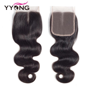 3 Bundles Brazilian Human Hair Closure 4*4