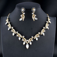 Load image into Gallery viewer, jewelry set silver / gold color fine necklace