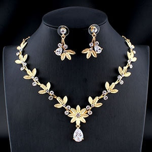 jewelry set silver / gold color fine necklace