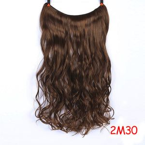 24 inches Clip on Wire Fish Line Hair Extensions Invisible Wire One Piece