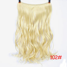 Load image into Gallery viewer, 24 inches Clip on Wire Fish Line Hair Extensions Invisible Wire One Piece