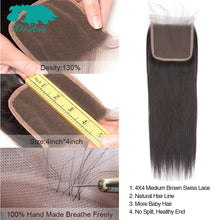 Load image into Gallery viewer, Brazilian Straight Hair Bundles With Closure 2/3 Bundles 100% Human Hair Weave Bundles With Closure Brazilian Hair Extensions
