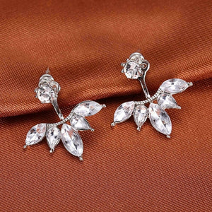 Crystal Flower Angel Wings Geometry Stud Earrings