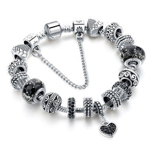 Load image into Gallery viewer, Black Charm love Bracelets