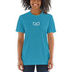 BrandHoot Tri-blend Blue Centered Short-Sleeve - Unisex
