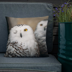 BrandHoot Winking Owl Two-Sided Pillow