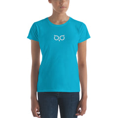 BrandHoot Blue Centered Short-Sleeve - Women's