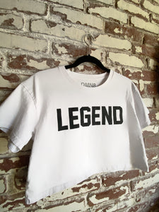 "White Crop Top ""LEGEND"""