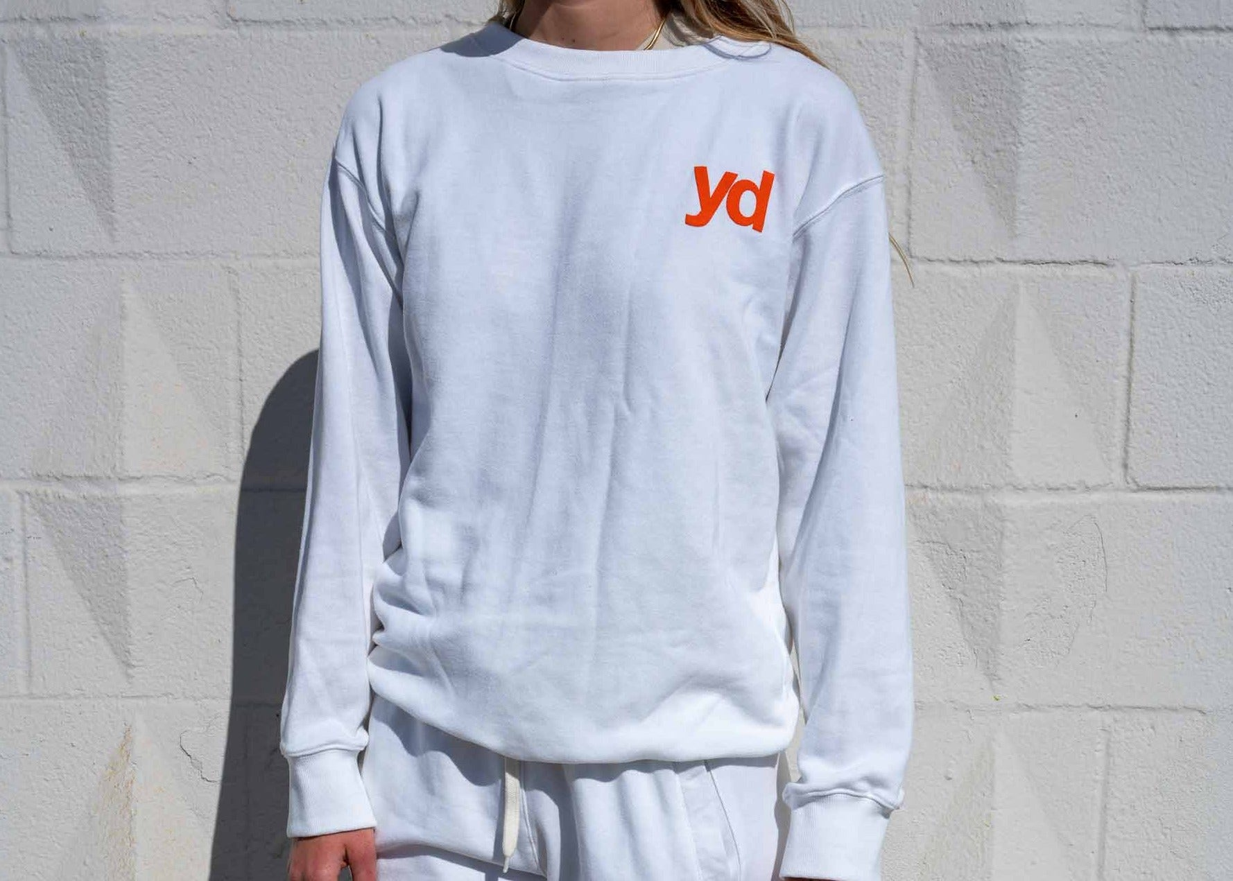 "White & Rainbow ""You're Dominating"" Sweater"