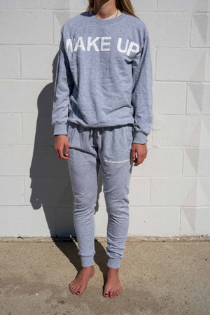 "Grey ""Dreams Are For Sleepers"" Sweatpants"