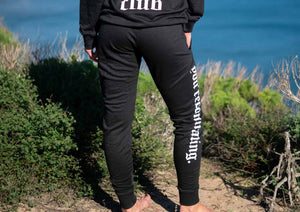 "Black ""Anti Fitness Fitness Club"" Sweatpants"