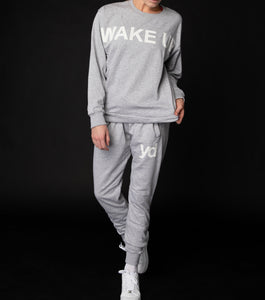 "Grey ""Wake Up"" Sweater"