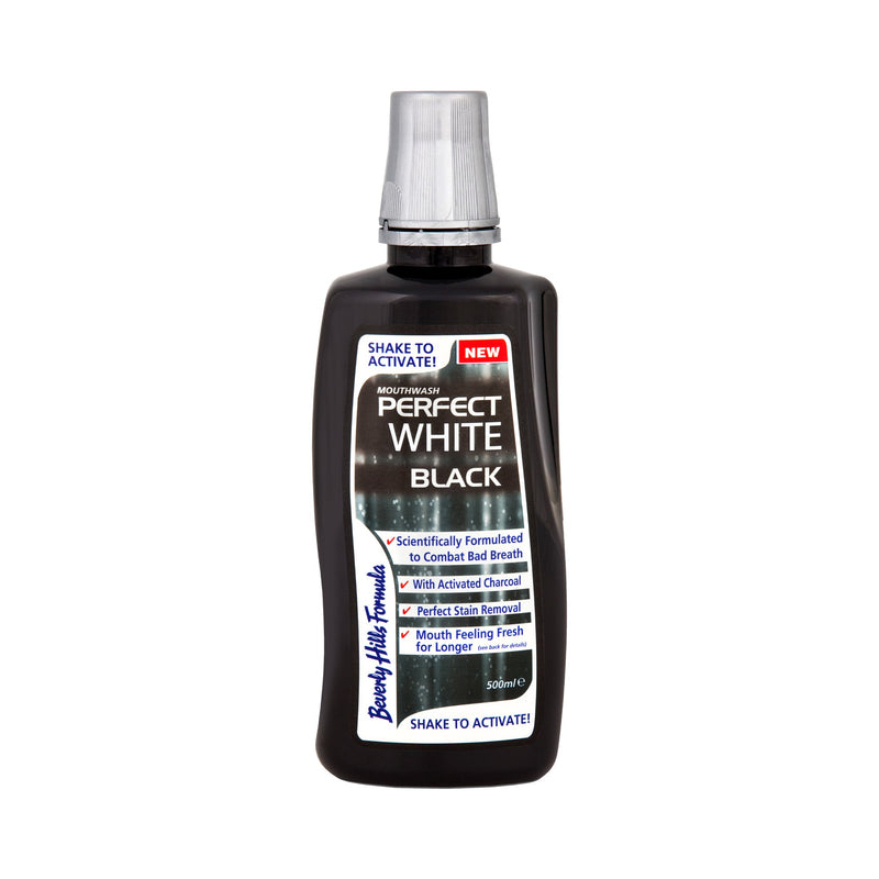 Perfect White Black mouthwash 500mls