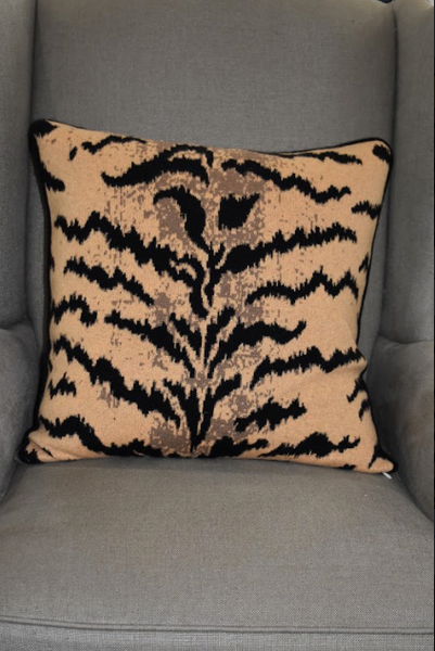 Cashmere Tiger Stripe Pillow