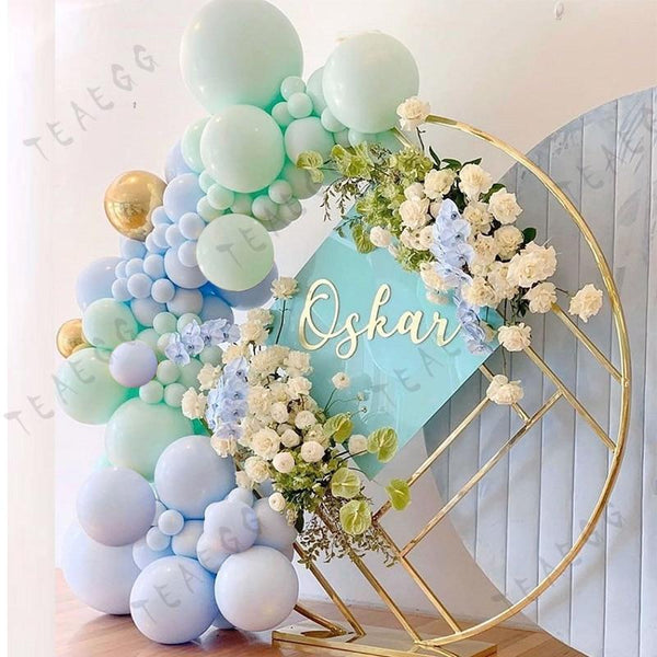100Pcs Diy Macaron Blue Mint Pastel Balloons Garland Arch Kit - Richard Castaneda