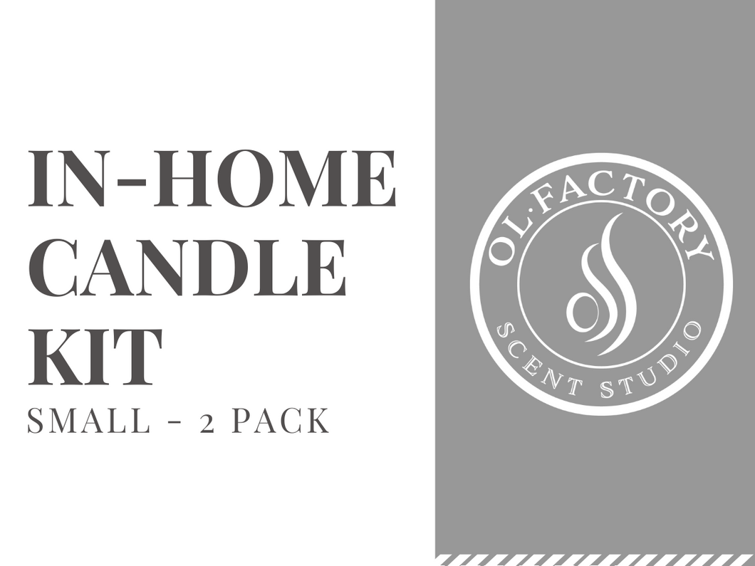 In-Home Candle Kit (Small:  2-pack)