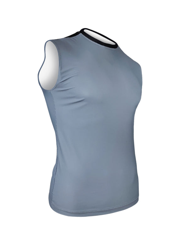 Men's Sleeveless Track Top - Solid