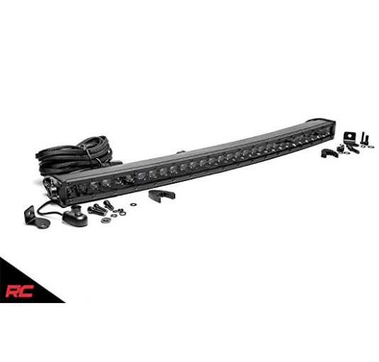 "Rough Country 30"" Black Series Single Row Curved CREE LED Light Bar 72730BL"