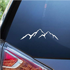Mountain Car Decal - 7'' Adventure and Camping Bumper Sticker for Your Car
