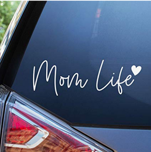 Mom Life Car Decal - 7'' Cute Bumper Sticker for Your Car