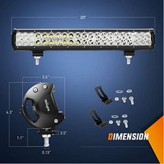 "20"" Straight LED Light Bar (126 watts)"