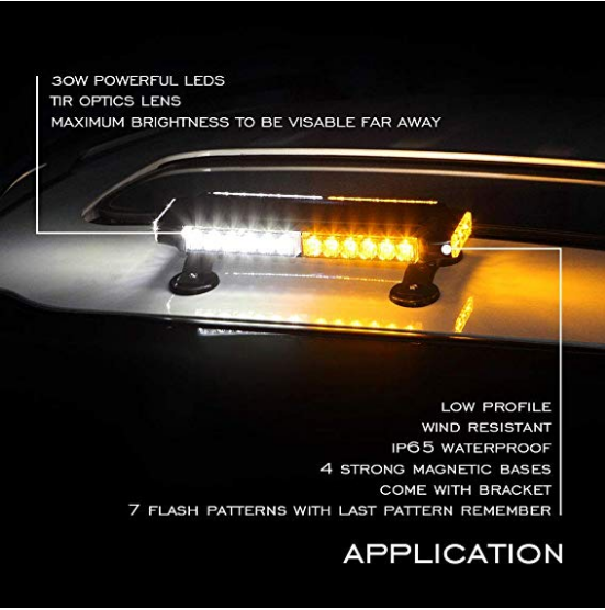 Amber White/Clear Lightbar (30 watts)