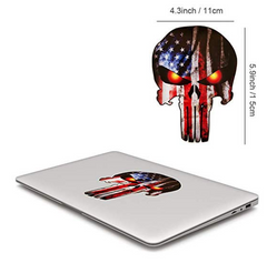 Skull Shaped & Stars and Stripes Flag Truck Decal Stickers