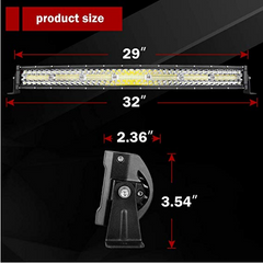 "29"" [32"" with Mounting Bracket] Curved LED Light Bar (390 watts)"
