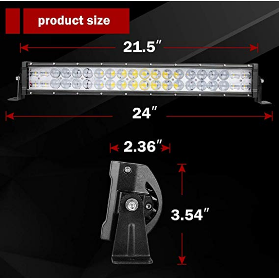 "22"" [24"" with Mounting Bracket] Curved LED Light Bar (300 watts)"