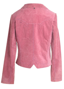 The Virgo Cropped Suede Jacket