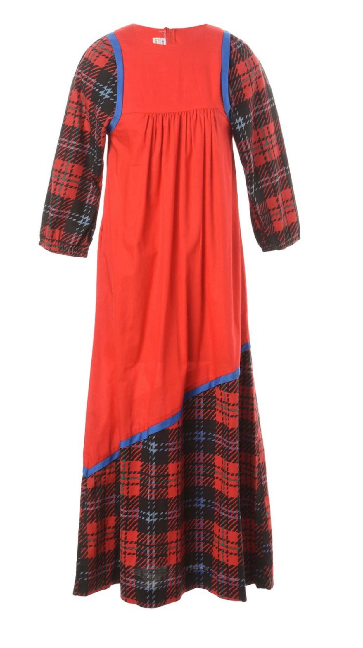 The Inez Checked Maxi