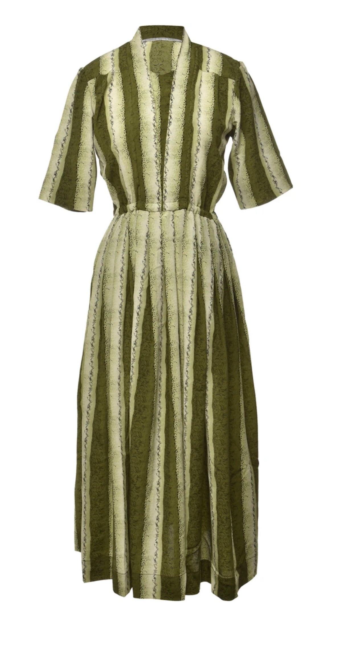 The Veranera Green Striped Dress