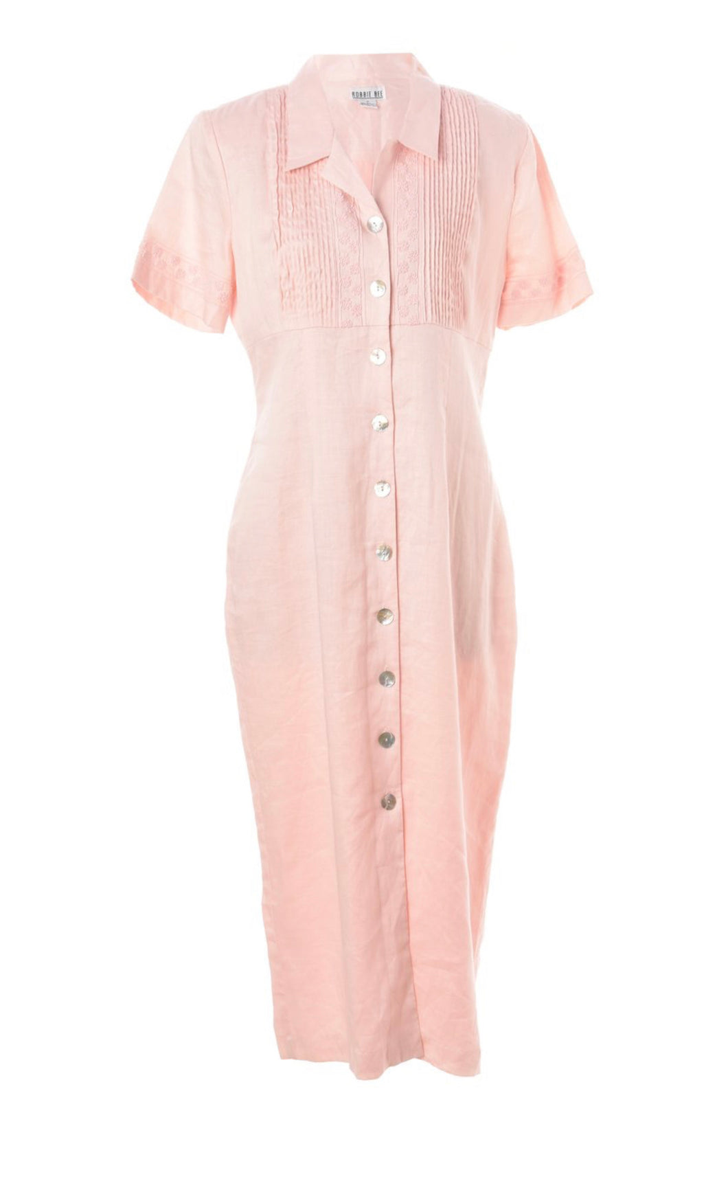 The Luna pink linen dress
