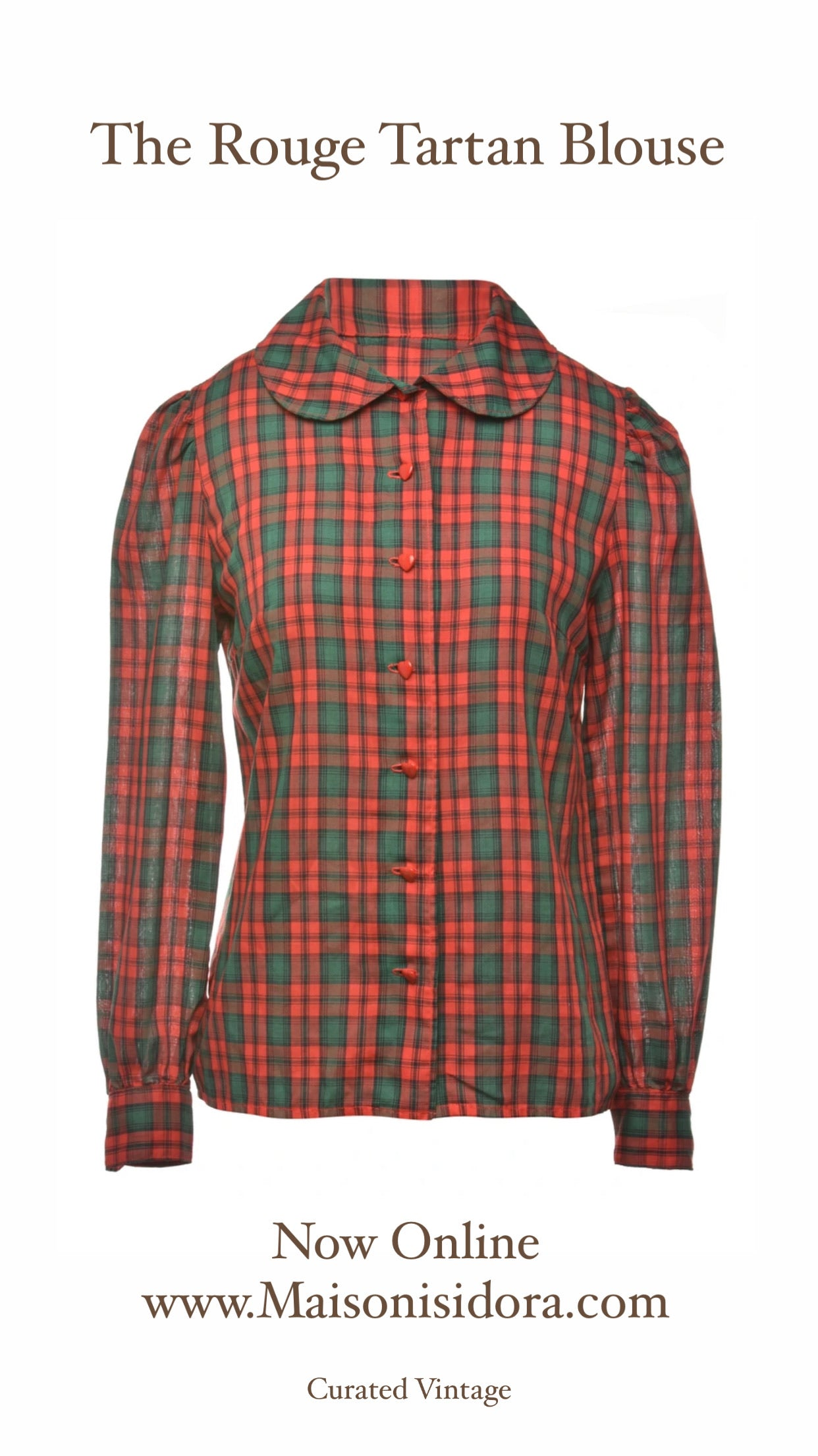 The Rouge Tartan Blouse