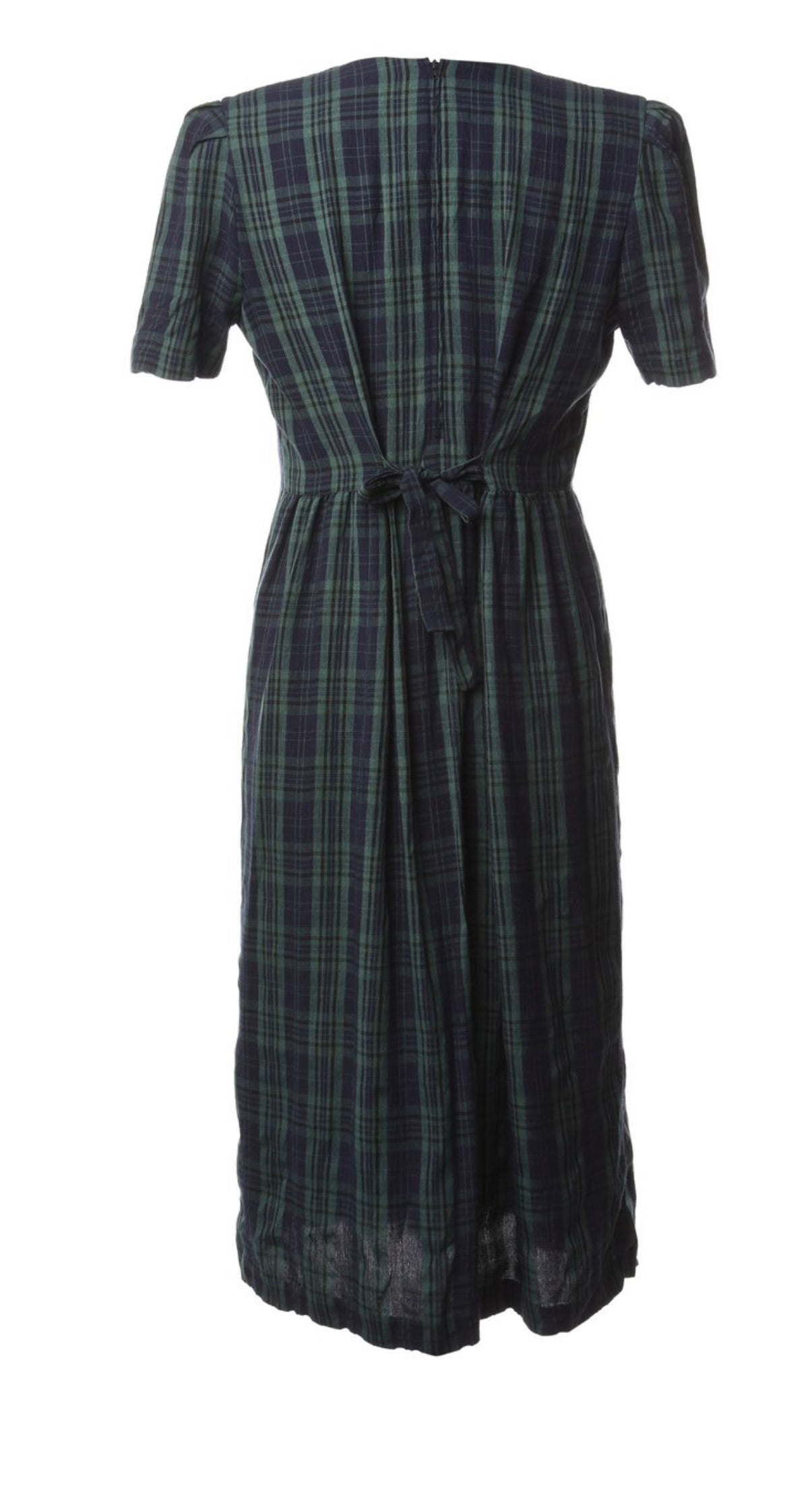 The Roma Tartan Midi Dress