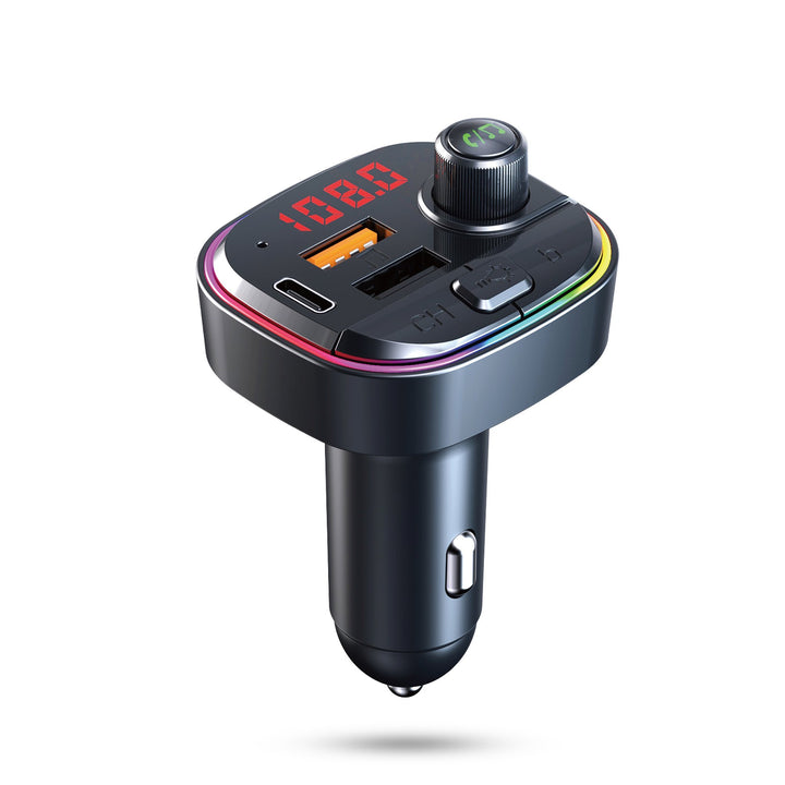 Bluetooth Car MP3 player w/ FM Transmitter & Breathing Color Light - #tusk_global#
