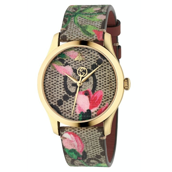 Gucci - G-Timeless Floral Print GG Canvas Strap Watch, 38mm - #tusk_global#