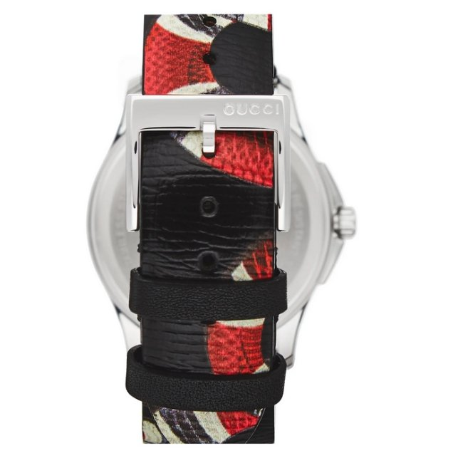 Gucci Snake Insignia G-Timeless Leather Strap -