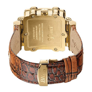 JBW Phantom Men's Watch (JB-6215-238-A) - Gold/Brown Leather - #tusk_global#