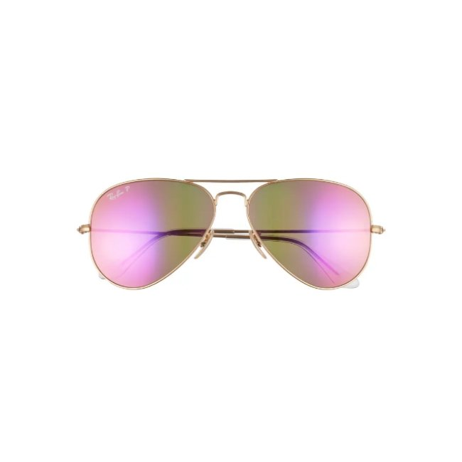 Ray-Ban Standard Icons 58mm Mirrored Polarized Aviator Sunglasses -