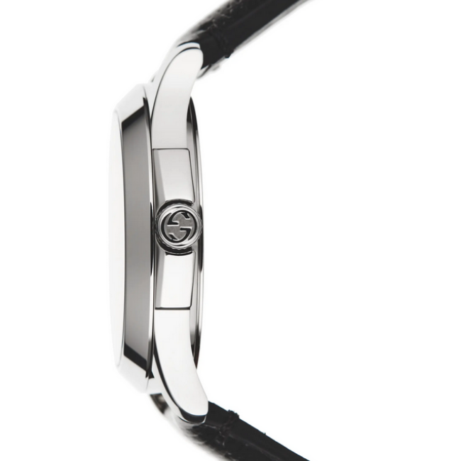 Gucci Snake Insignia G-Timeless Leather Strap