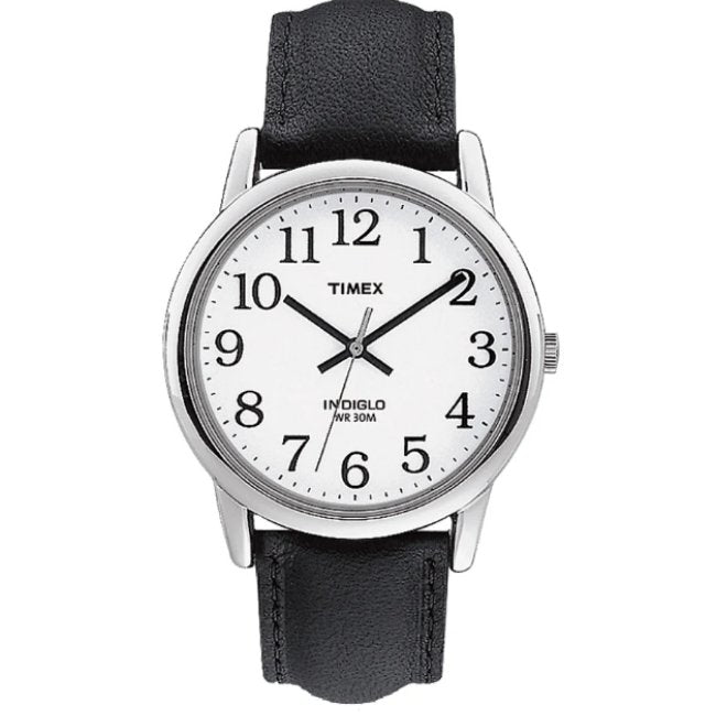 Timex Easy Reader Date Leather Strap -