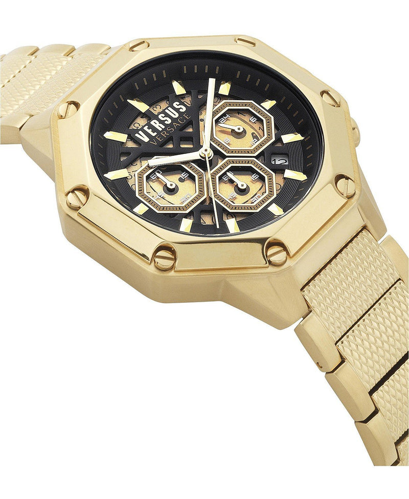 Versus by Versace Men's Chronograph Palestro Gold-Tone Stainless Steel Bracelet Watch 45mm -
