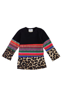 Leopard Serepe Black Top