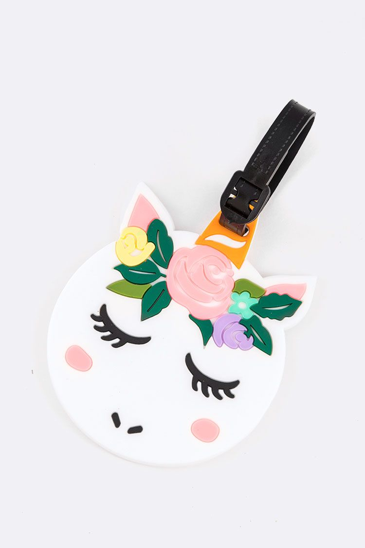 Floral Unicorn Iconic Jelly Luggage Tag
