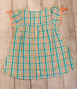 Presley Plaid Button Back Dress