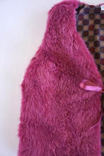 Load image into Gallery viewer, Maroon Faux Fur Vest