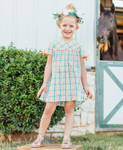 Load image into Gallery viewer, Presley Plaid Button Back Dress