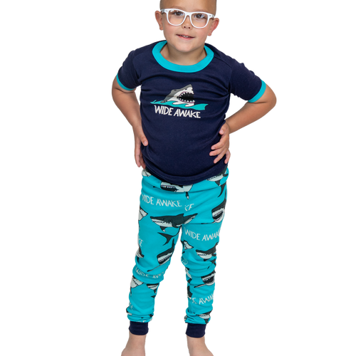 Wide Awake Shark Kid PJ Set