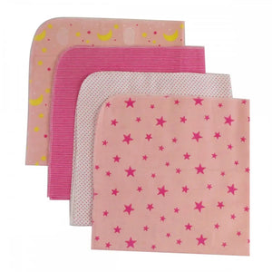 Bambini Four Pack Receiving Blanket